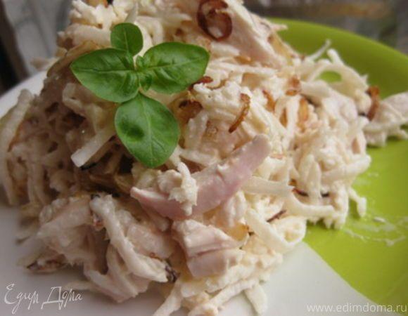 Назад в СССР: Салат из редьки с мясом и луком