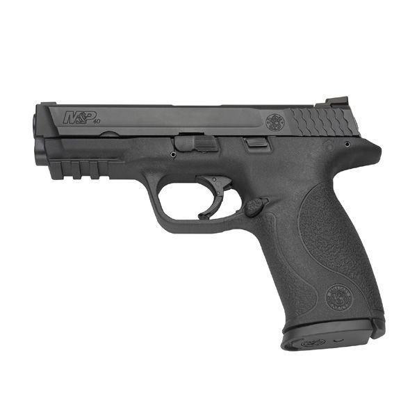 S & W M & P 40 cal. shoots nice. feels like it belongs in your hand, kinda like a 1911, but with a softer recoil. Nice weapon.