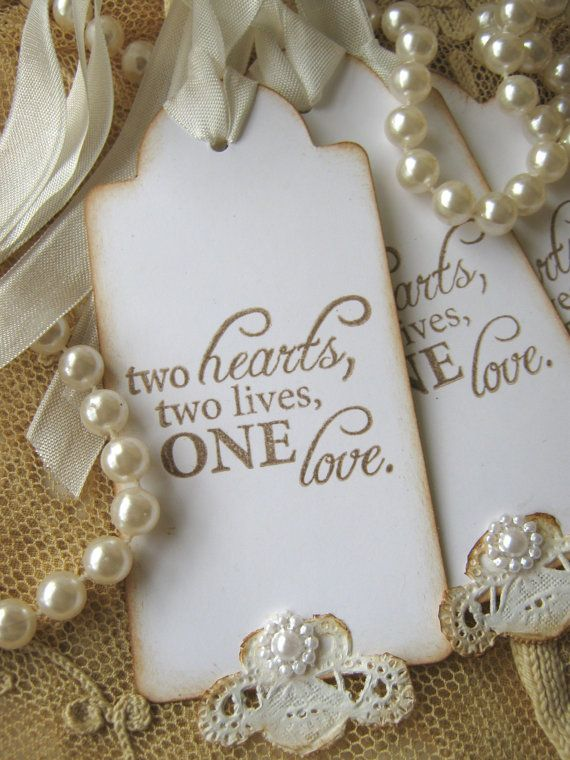 Lace Wedding Wish Tags Wedding Favor Tags by CharonelDesigns