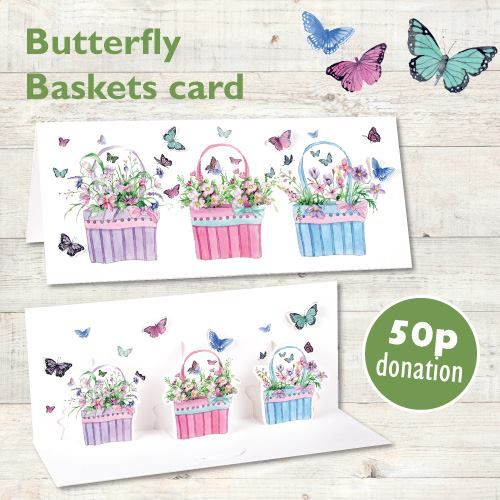 Butterfly Baskets Phoenix Trading card.  50p from the sale of each of these cards will be donated to Together for Short Lives (UK Children's hospice care) until the end of June 2015.