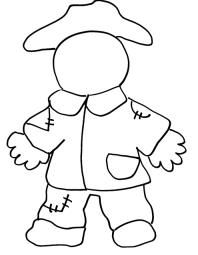 coloring pages fall scarecrow coloring page