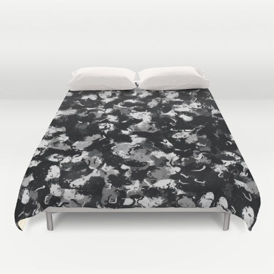 Shades of gray and black oils 1979 duvet cover by Khoncepts