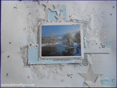 Mój świat kolorów...: Mroźnie, biało i zimowo...