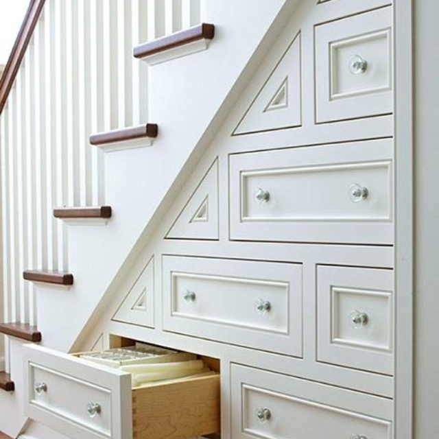 Storage ideas under the stairs - make it into pull out drawers etc - use all the space!