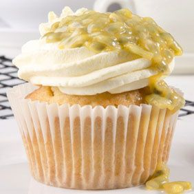 Lilikoi (passion fruit) Cupcakes w/Whipped Cream Frosting A basic cupcake recipe with a light and fluffy whipped cream frosting. I used fresh passion fruit - seeds and all to garnish my cupcakes.