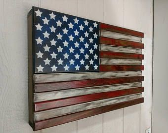 Hidden gun storage Small American Flag