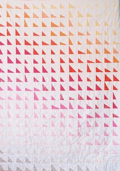 quilt patternCreative Chicks, Quilt Inspiration, Beautiful Quilts, Quilt Patterns, Triangle Quilts, Colors Crushes, Triangles Quilt, Modern Quilt, Crushes Quilt