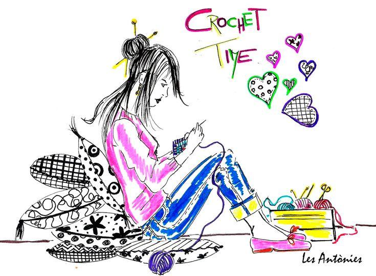 "IL·LUSTRACIÓ ""CROCHET TIME"".#ilustración #crochet"