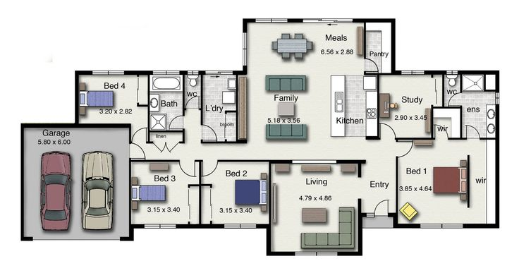 The Lansdown 257 is a versatile family design suitable for wide or acreage blocks of land.