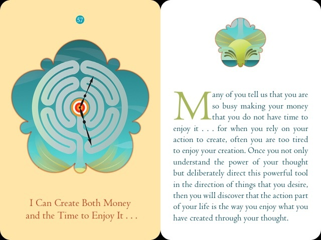 5 ~ My action is the way I enjoy - it is not the way. Money CardsAffirmation  CardsCard DeckLaw Of AttractionAbraham ...