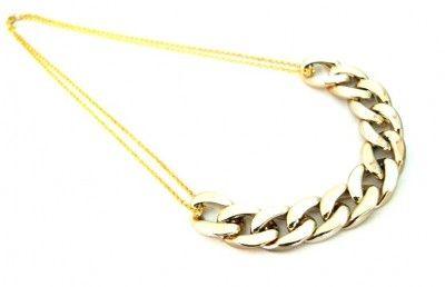 Naszyjnik Gruby Łańcuch Pancerka Złoty. #naszyjnik #necklace