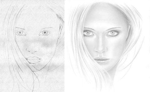 weibliches gesicht zeichnen lernen portr t portait frau mund nase zeichenkurs zeichnen. Black Bedroom Furniture Sets. Home Design Ideas