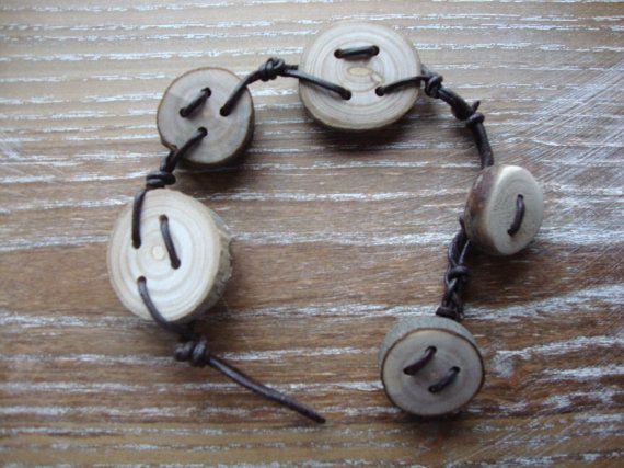 Ash wood slices for a natural bracelet di BoisetRois su Etsy