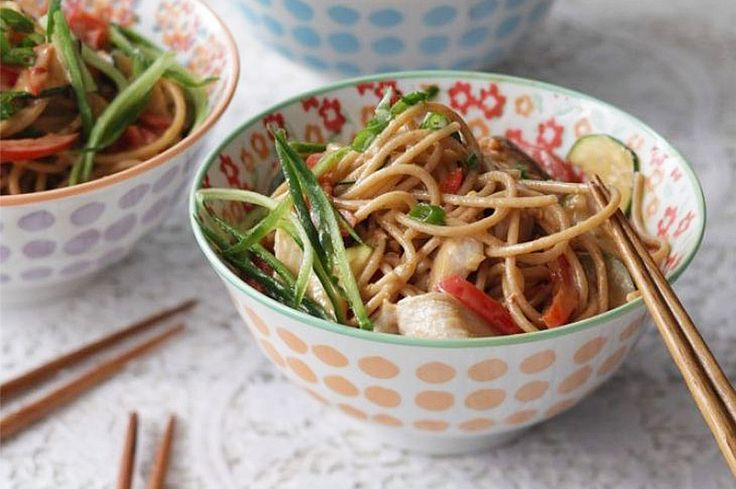 Low in calories and jam-packed with crisp vegetables, Candice Kumai's spicy soba noodle dish is the ultimate easy and healthy dinner.