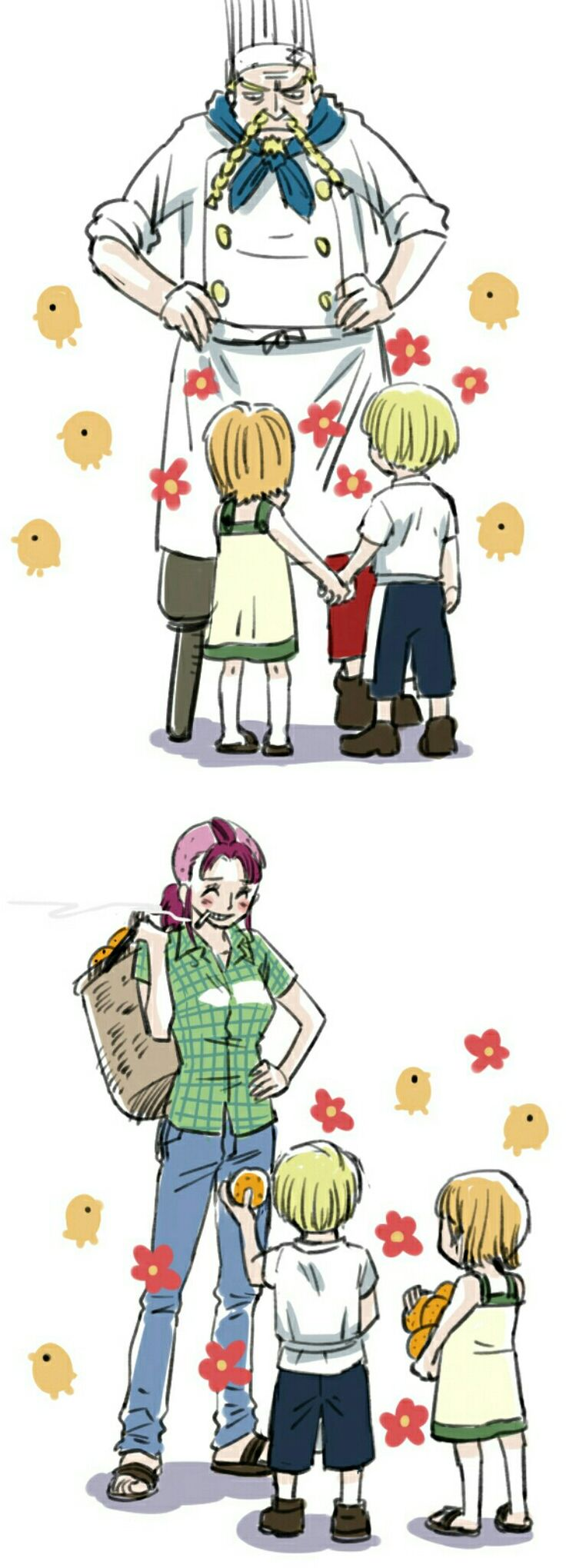 SanNami with Zeff and Bell-mere-san   One piece anime ...