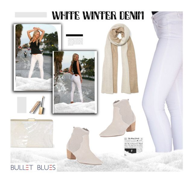 """White Winter Denim with Bullet Blues 'Miami Chic' Skinny jeans made in USA"" by bulletblues ❤ liked on Polyvore featuring Club Monaco, Sbicca, Burberry and Bullet"