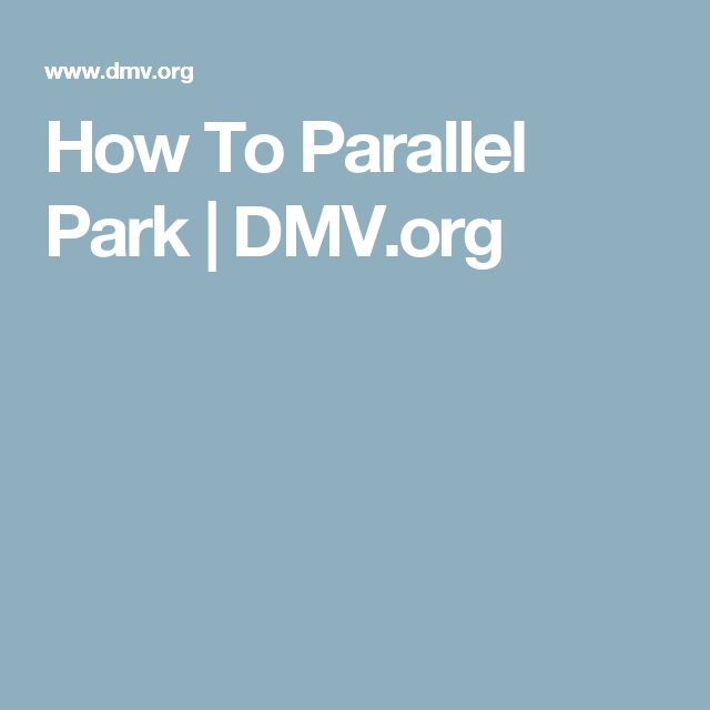How To Parallel Park | DMV.org