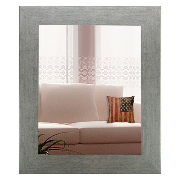 Tippett Brushed Silver Wall Mirror & Reviews | AllModern