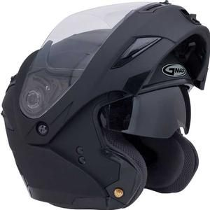 Gmax GM54 Helmets - Modular Street Motorcycle Helmets, Black, Flat Black, White, Wine, Silver - Compacc.com