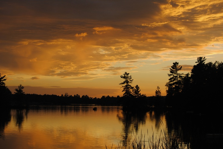 One of the many beautiful sunsets on Lovesick Lake summer 2011
