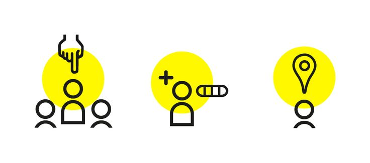 Yellow Dot over Simple Line Website illustration #3