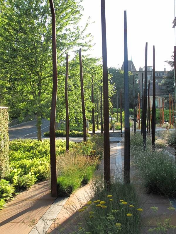 Floorworks. Urban garden by Agence TER Landscape Architects, Geneva, Switzerland. 2 million euro, 4600 sqm. Image: ©agenceter