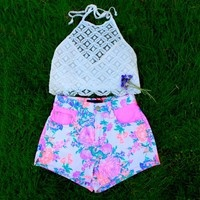 Electric Fields Shorts- Mink Pink