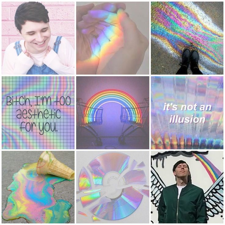 Requested! Dan and Phil rainbow moodboard (my edit)