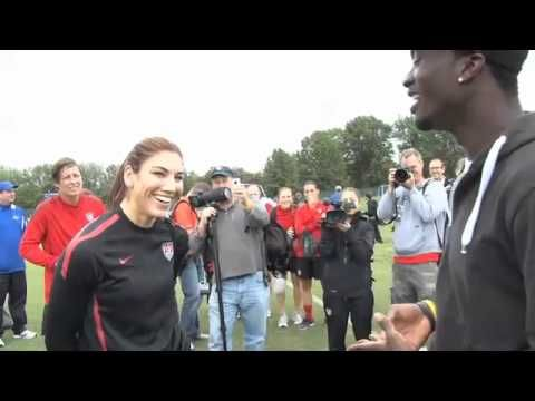 hope solo, hope solo. don't think i'm loco, but it's a cold world. girl, you could use some hot coco