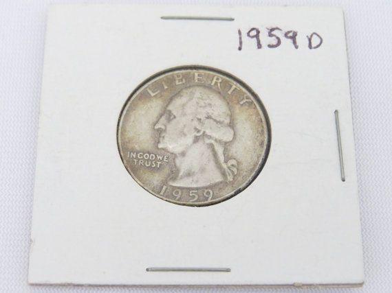 1959 D 90% Silver Washington Quarter Dollar Coin