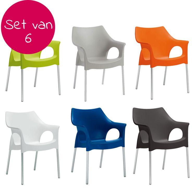 Set van 6 - Ola tuinstoel - Scab Design