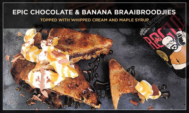 chocolate and banana braaibroodjies