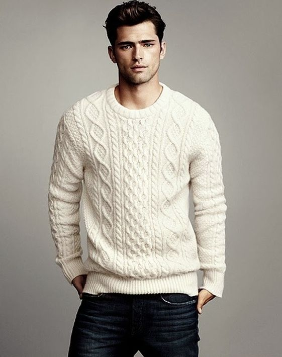 beautiful mens white jumper outfit 11