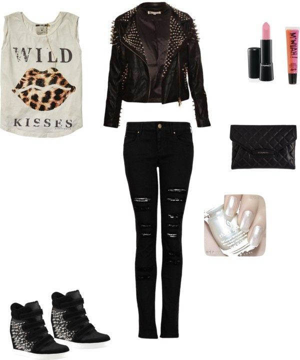 Casual Edgy Outfit | Modesty Is Sexy!!!!!!!!!!!! | Pinterest | Studs The Ou0026#39;jays And Red Converse
