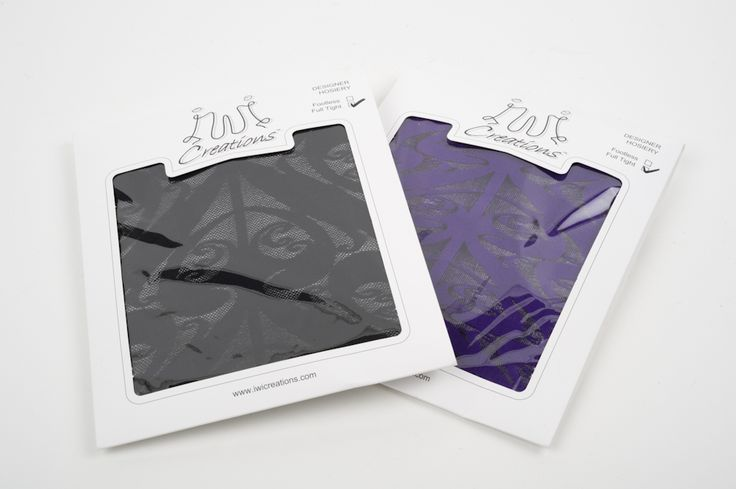 Iwi Tights in Black and Purple
