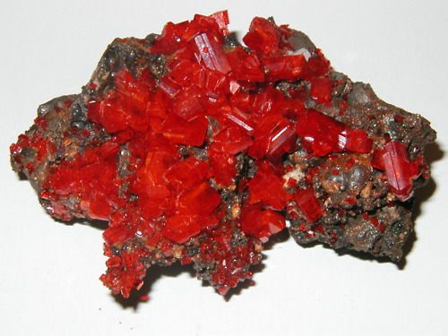 Lopezite is a rare red chromate mineral with chemical formula: K2Cr2O7. It crystallizes in the triclinic crystal system.