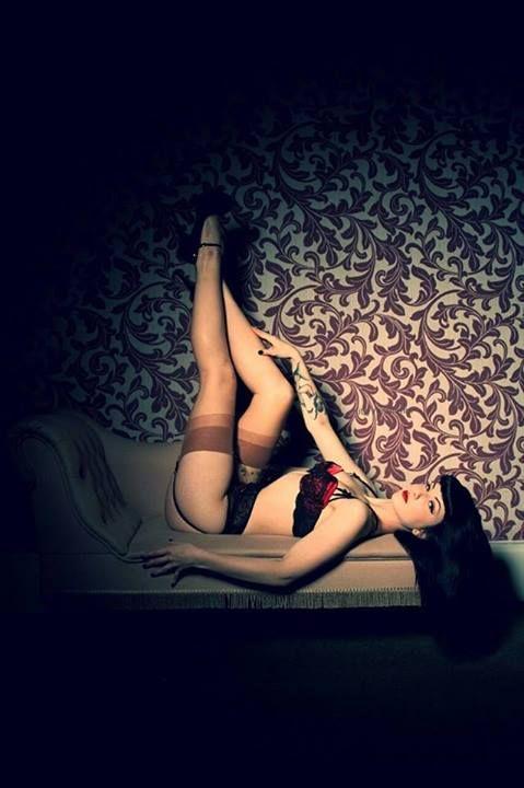 Just laying here smelling good   Model: Kitty Von Grimm http://www.modelmayhem.com/KVG