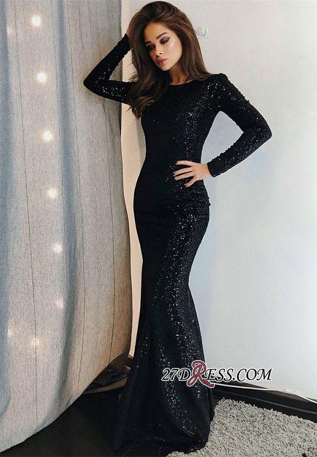 Sexy Black Sequins Prom Dresses  9bf67e3ab