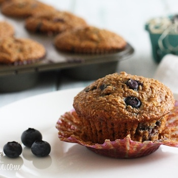 Honey Coconut Blueberry Bran Muffins | Food | Pinterest | Blueberry ...