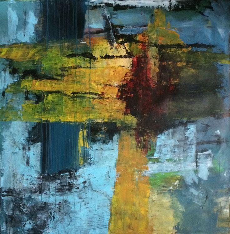 Kell Jarner, Acryl på lærred, 100 x 100 cm, dec. 2014