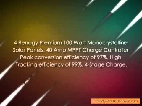 A new video about Solar Panels has been added at http://greenenergy.solar-san-antonio.com/solar-energy/solar-panels/renogy-premium-solar-panel-kit-400w-4pc-100w-solar-panels/