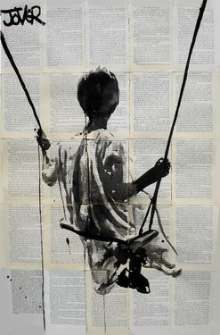 "Saatchi Online Artist Loui Jover; Drawing, ""walking on a dream"" #art"