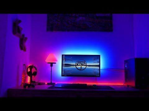 Como Instalar Tira Led En El Televisor Led Tv Backlight Installation Strip Lights Rgb Diy Youtube Led Strip Lighting Strip Lighting Led Light Strips