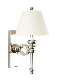 Albers Sconce  Transitional, Upholstery  Fabric, Metal, Wall by Curated Kravet
