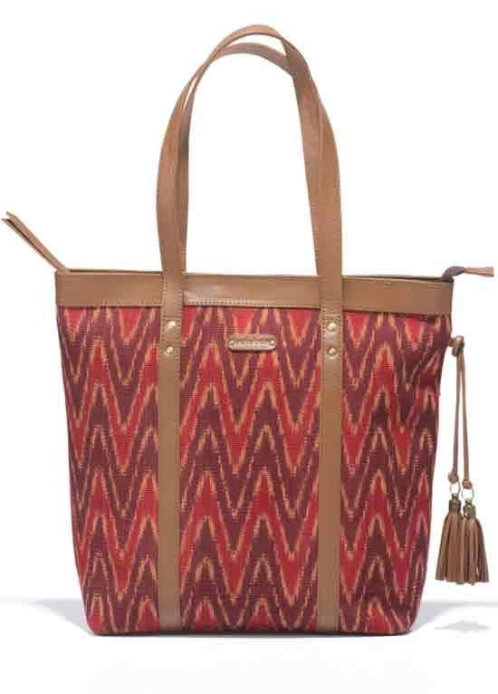 Ideal for pursuing your curiosities to city corners, with these ikat and leather bags you would always want to take the longest route home. Spacious to hold most of your belongings which engage your hands and pockets. Keeping everything safe within their handwoven patterns; these are companions you can rely on. #ikat #Orissa #handcrafted #handloom #woven #madeinindia Buy here ~ http://shop.gaatha.com/Buy-October-Proctucts-online