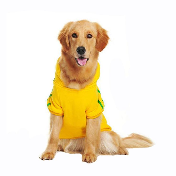 Warm Hoodie Dog Clothes for Golden Retriever Large Dogs 2XL-9XL Optional Sportwear Winter Clothing for Dogs