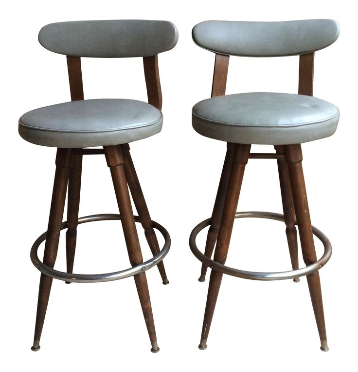 Very cool pair of upholstered bar height stools. They need some work with  some damage - Best 25+ Upholstered Bar Stools Ideas On Pinterest Upholstered