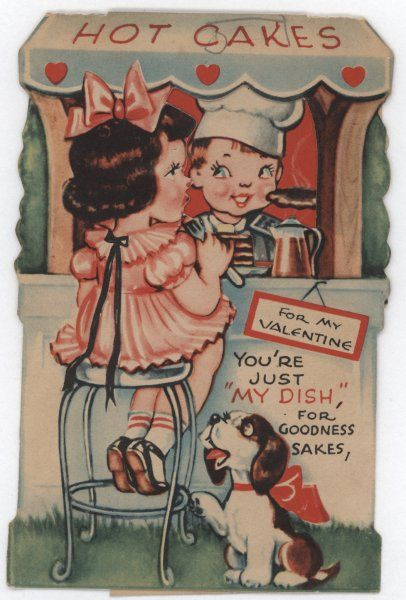 Hearts Atwirl - Vintage Valentine Cards from the early to mid 20th Century