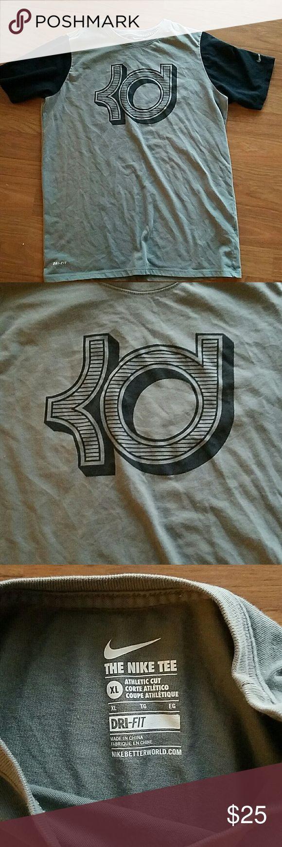Kevin Durant Nike xl tshirt kids Kids xl kd Nike tshirt. Very good condition. Colours are grey and black Nike Shirts & Tops Tees - Short Sleeve