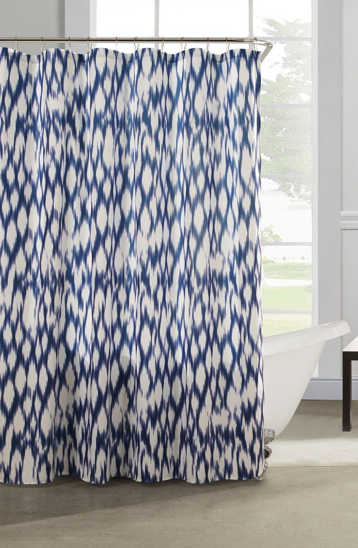 Best 25 blue shower curtains ideas on pinterest beach - Cobalt blue bathroom accessories ...